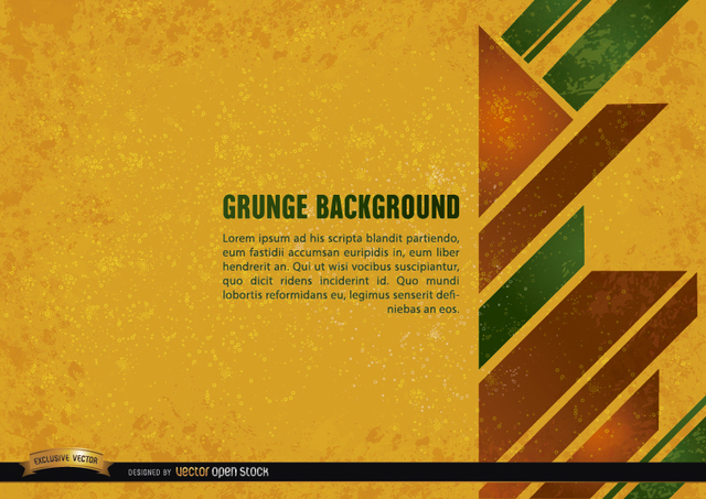 Free Vectors: Grunge yellow background with geometric shapes | Vector Open Stock