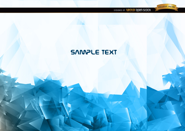 Free Abstract blue polygonal background