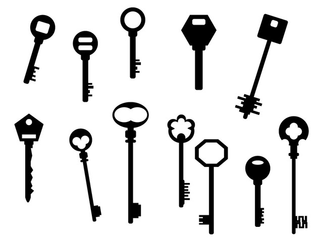 Free Silhouette Antique Key Pack