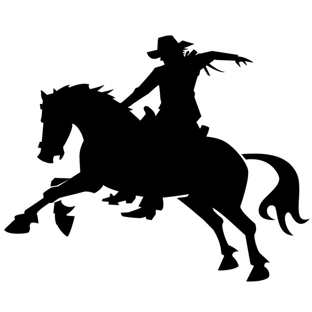 Free Silhouette Cowboy on the Back of a Horse
