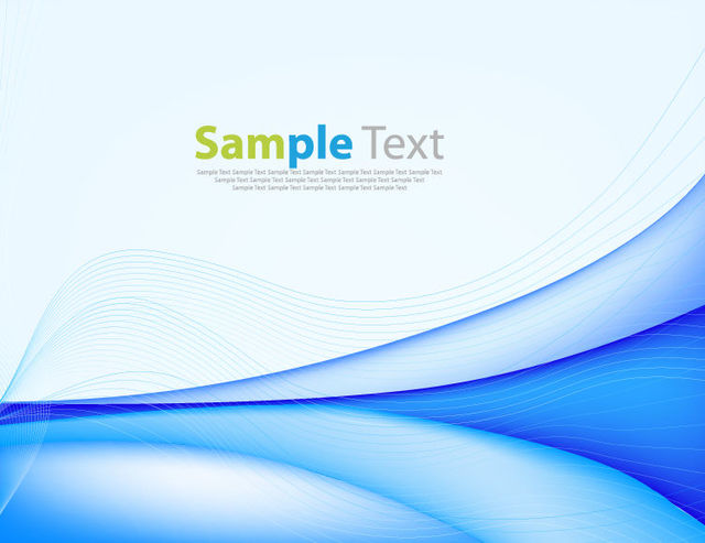 Free Creative Blue Curves & Spiral Lines Background