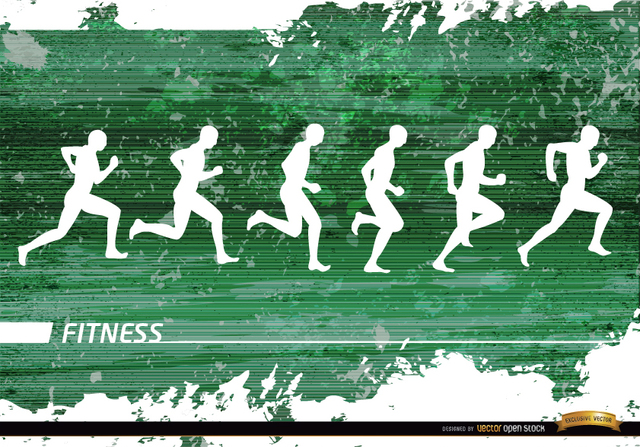 Free Jogging silhouettes grunge background