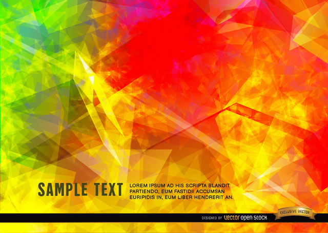 Free Vectors: Polygonal flames background | Vector Open Stock