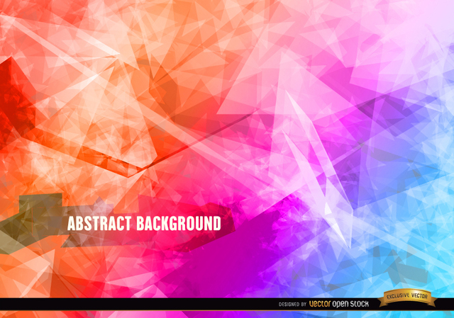 Free Abstract polygon crystal background