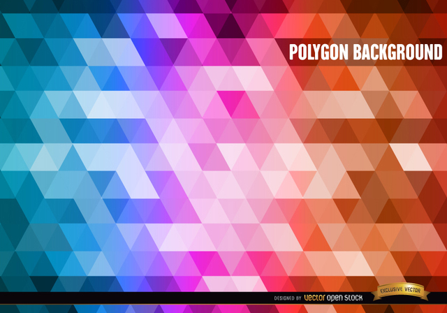 Free Polygon gradient colors background