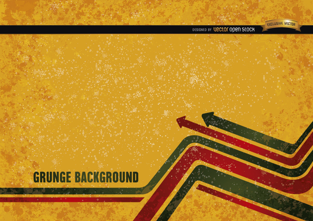 Free Yellow grunge background with modern arrows