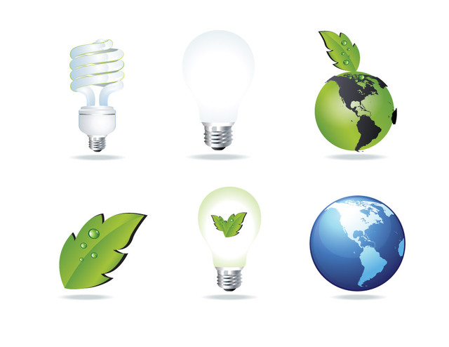 Free Eco and Energy Saving Glossy Icon Set