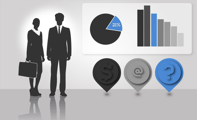 Free Vectors: Silhouette Business People with Info-graphics | Design Freebies
