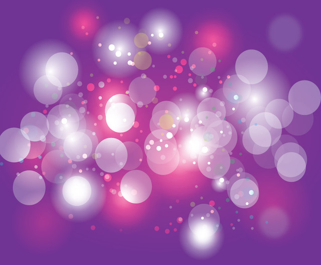 Free Shiny Bokeh Bubbles over Purple Background