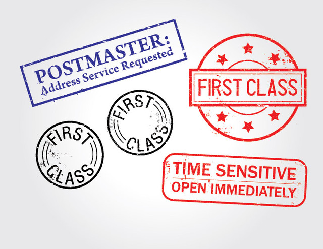 Free First Class Distressed Stamp Pack