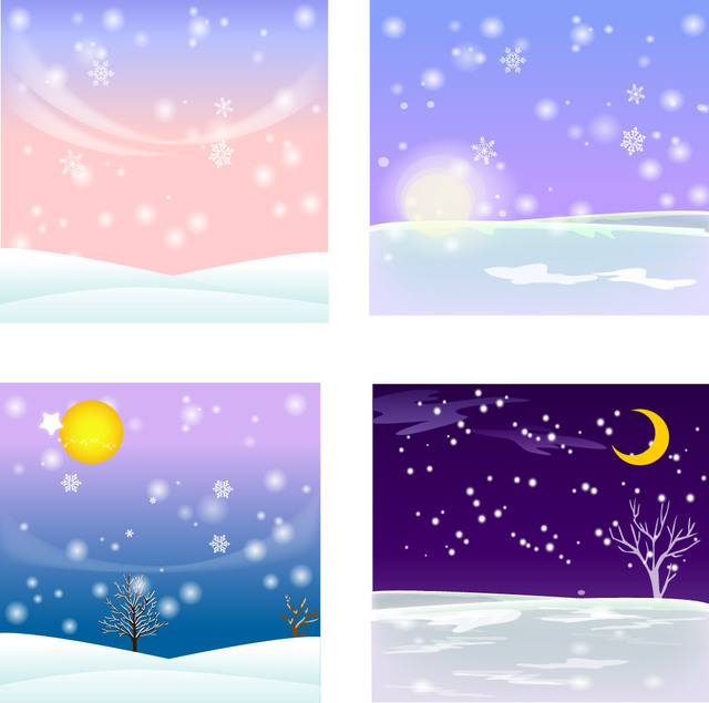 Free 4 Winter Themed Snowy Backgrounds