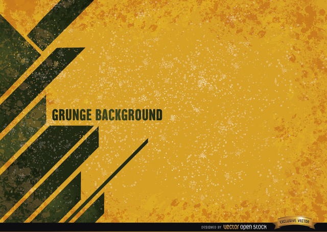 Free Yellow grunge background with modern stripes