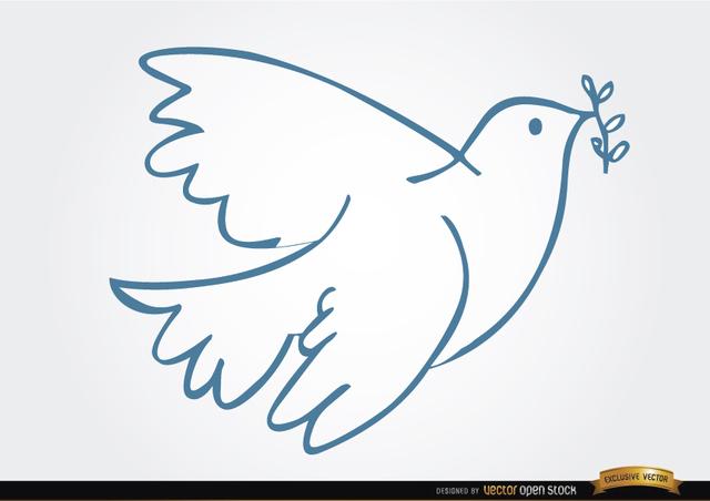 Free White dove laurel peace symbol