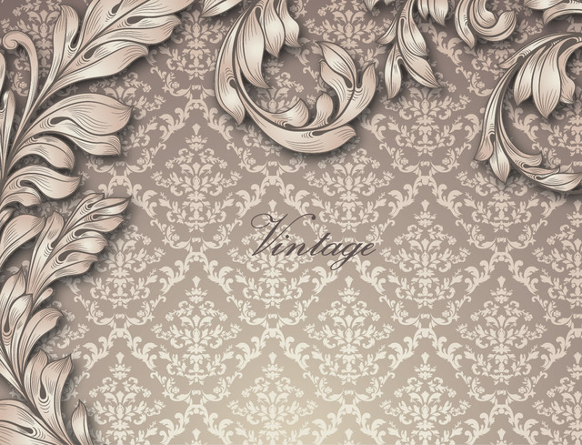 Free Retro Golden Floral Seamless Pattern