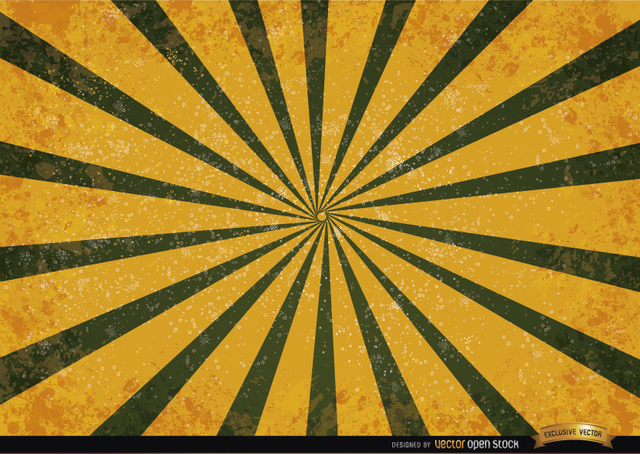 Free Orange green radial stripes grunge background