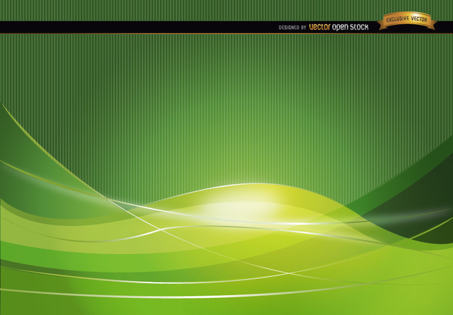 Free Green wavy abstract background