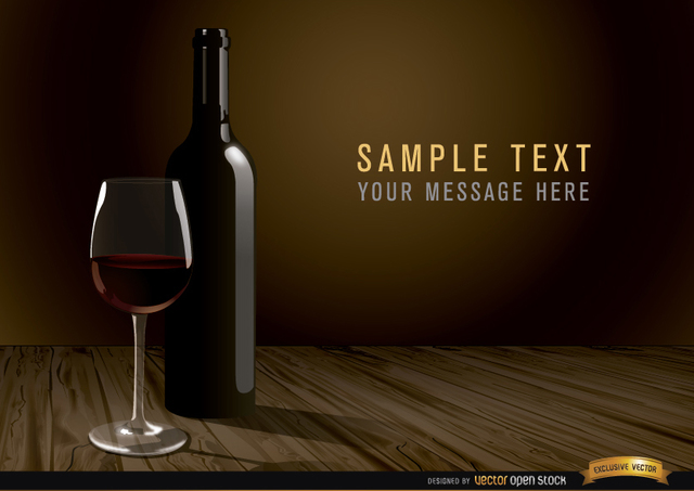 Free Wine bottle and glass background