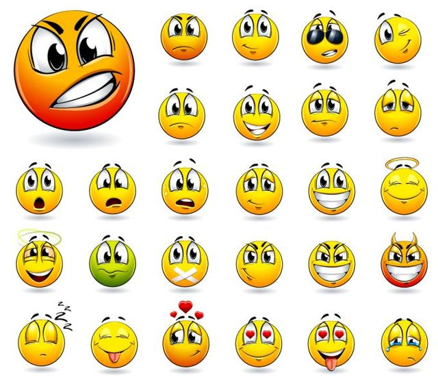 Free Funky Yellow Emoticon Smiley Pack