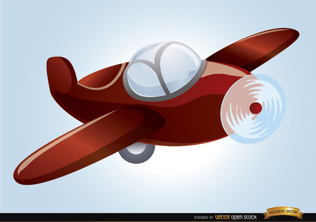Free Cartoon toy plane flying