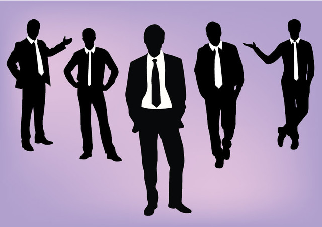 Free Silhouette Dynamic Corporate People Pack