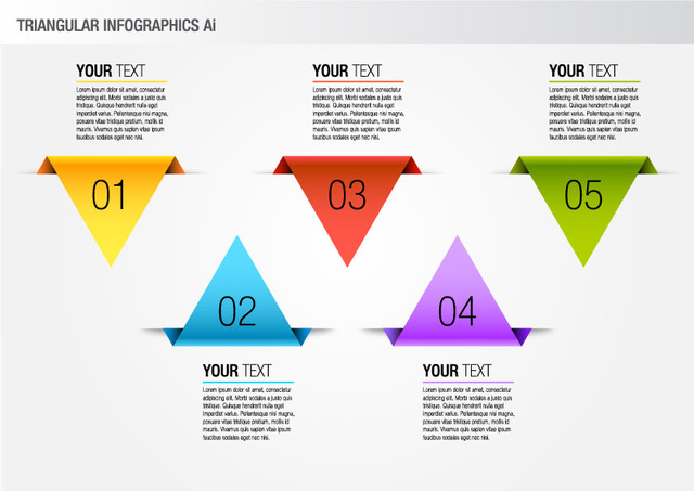 Free Colorful Triangular Info-graphic Pack