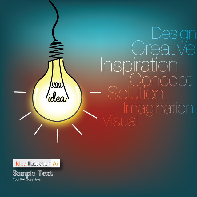 Free Funky Idea Bulb Info-graph Background