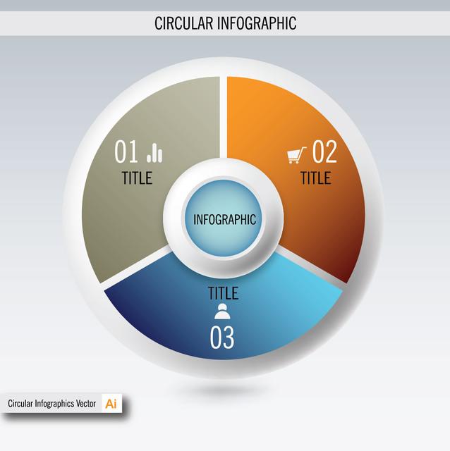 Free E-Commerce & Business Circular Info-graphic