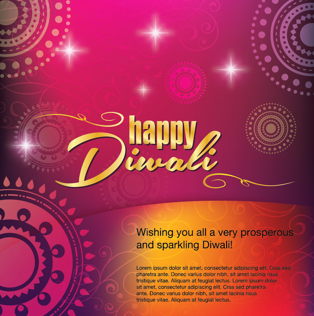 Free Happy Diwali Greeting Card Decoration
