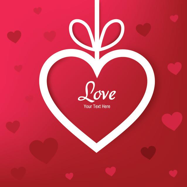 Free Paper Cut Heart Applique Valentine Background