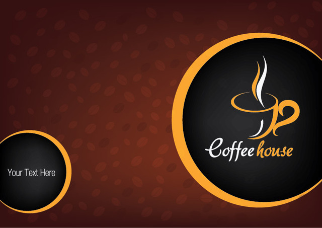 Free Hot Coffee Cup Background with Beans
