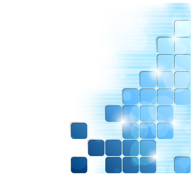 Free Glowing Blue Puzzling Squares Background