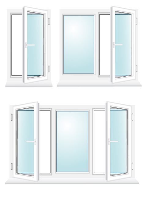 Free Glossy Window Set with Blue Glasses