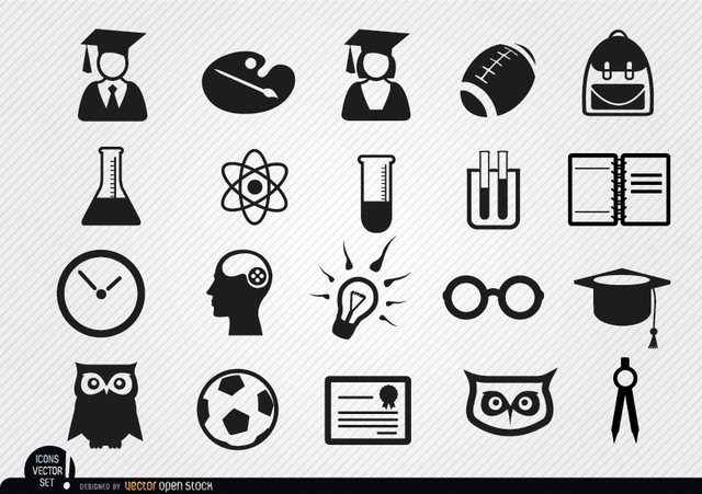 Free Academic school icons set
