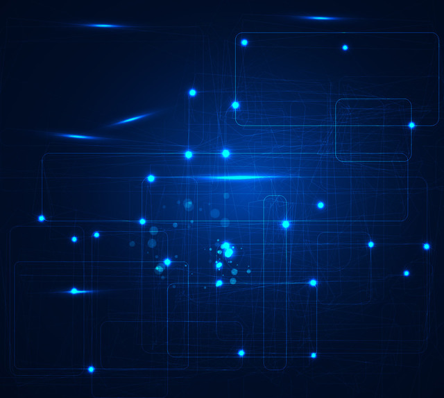 Free Abstract Glowing Blue Overlapping Squares Background