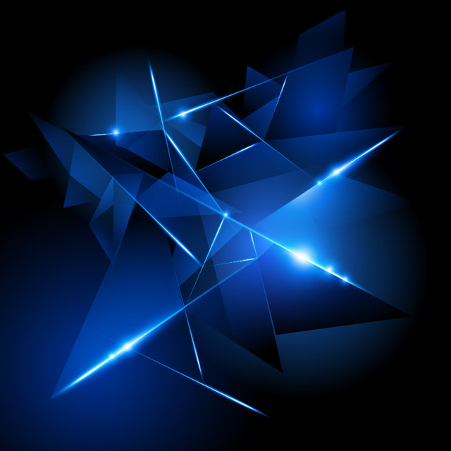 Free Creative 3D Glowing Triangles Background