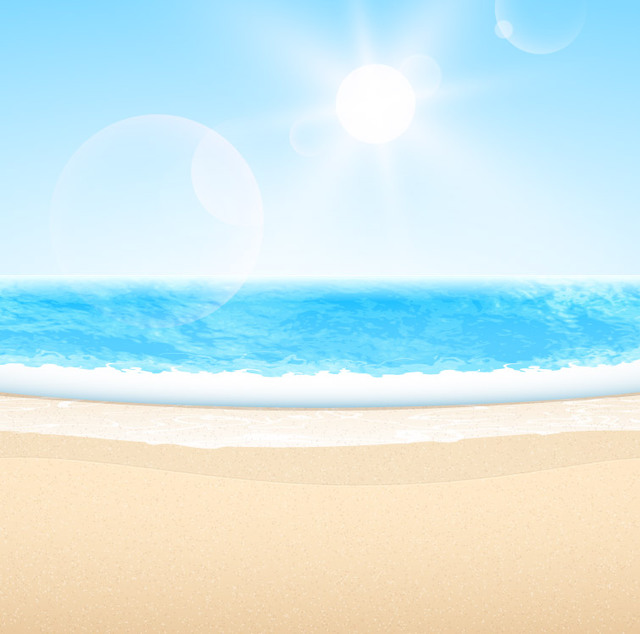 Free Abstract Summer Sea Beach with Blue Sky