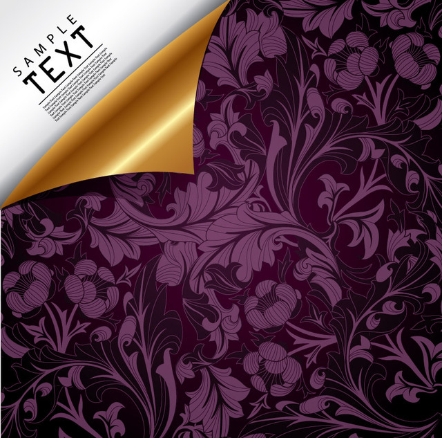 Free Luxury Floral Background with Curly Corner