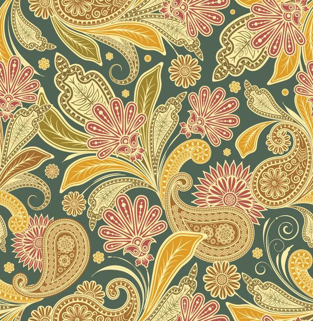 Free Beautiful Retro Floral Seamless Pattern