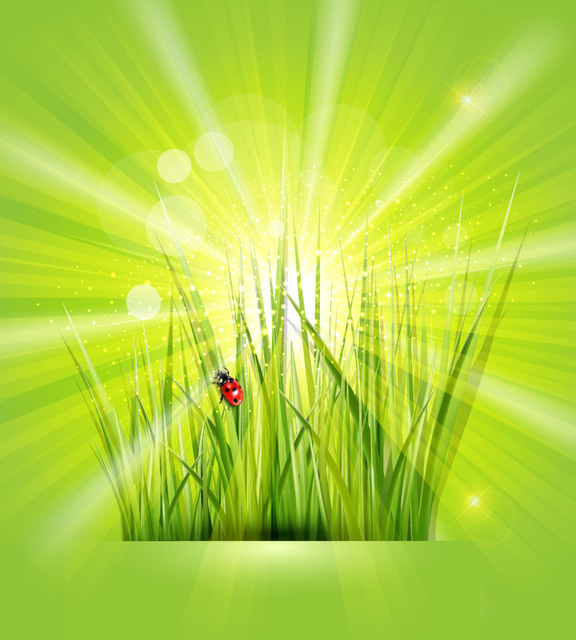 Free Shiny Green Background with Grasses