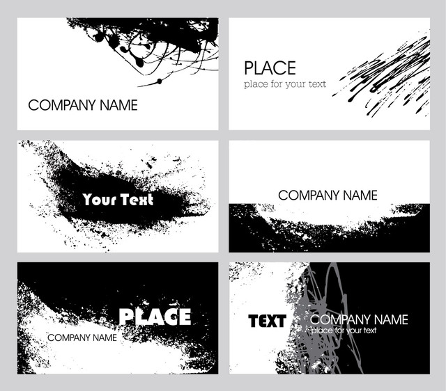 Free Black & White Grungy Business Card Pack