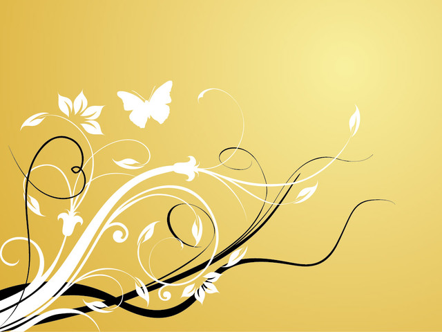 Free Classic Style Swirling Floristic Background