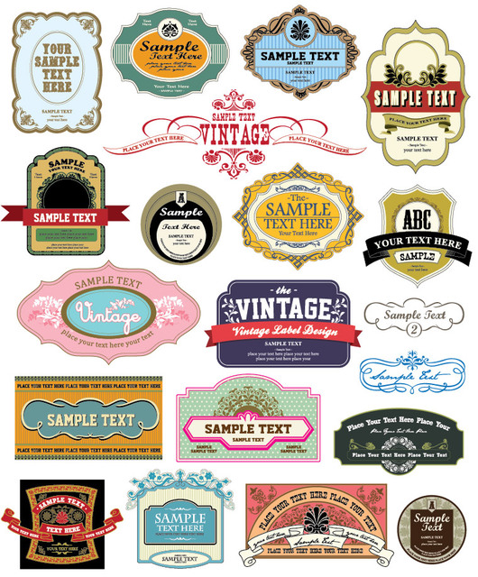 Free Numerous Collections of Vintage Labels