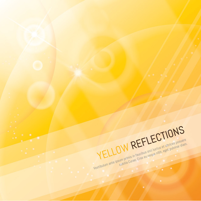 Free Yellow Reflection Background with Lines and Shades