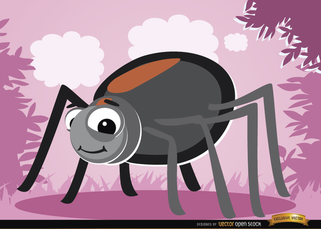 Free Funny cartoon Spider bug