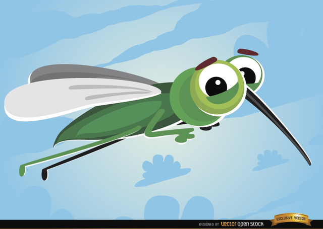 Free Cartoon Mosquito flying insect