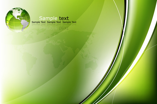 Free Glossy Green Business Background with Globe