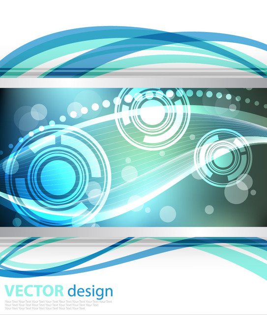 Free Dynamic Waves and Lines Glowing Background