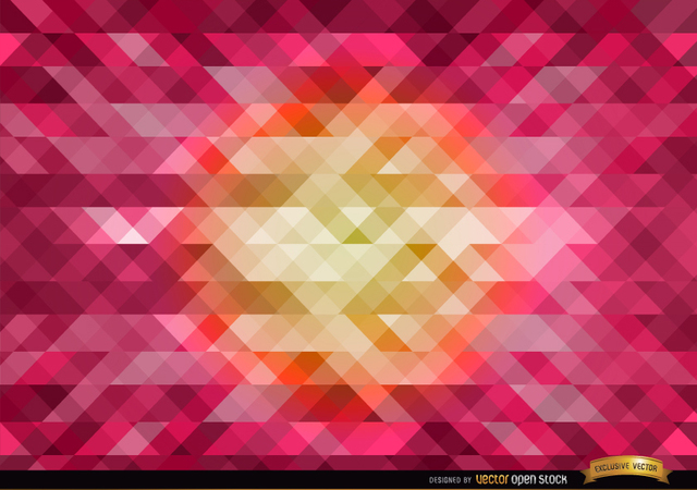 Free Orange in center pink polygonal background