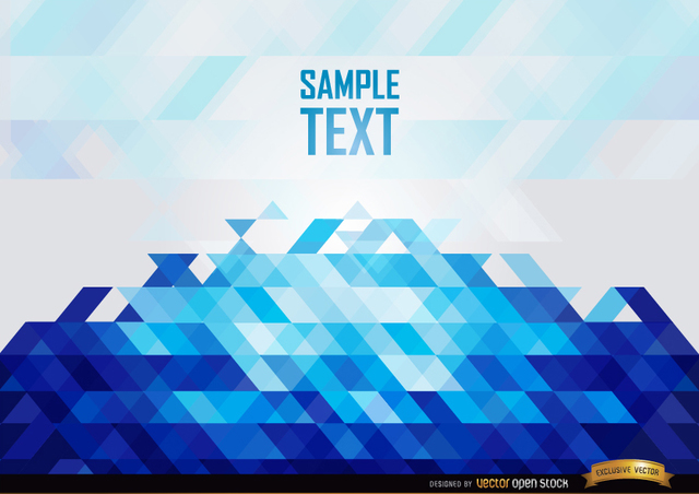Free Abstract Blue polygons background