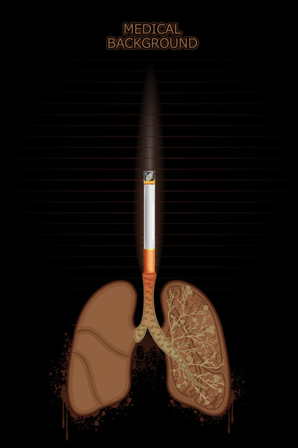 Free Cigarette Burning Lungs Medical Background